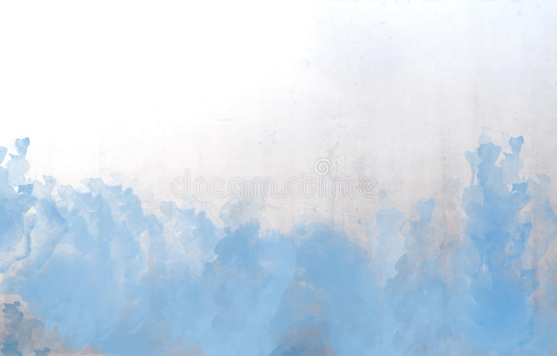 Blue watercolor abstract background texture. With copy space vector illustration