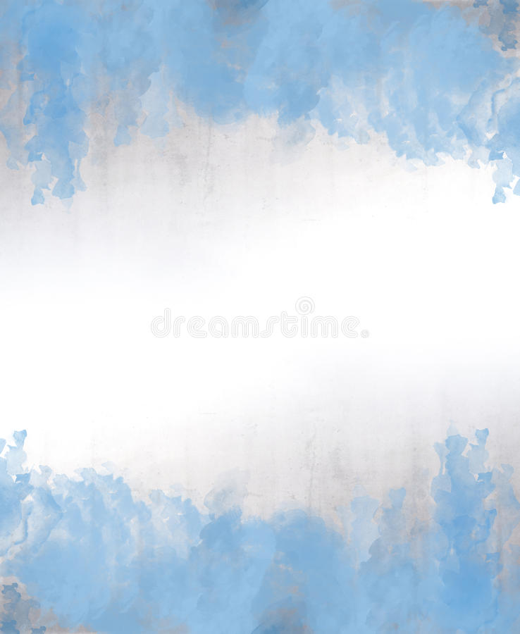Blue watercolor abstract background texture. With copy space stock illustration