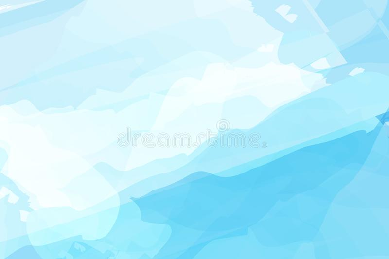 Blue watercolor abstract background vector design for Songkran festival in Thailand. Songkran is Thailand new year. stock illustration