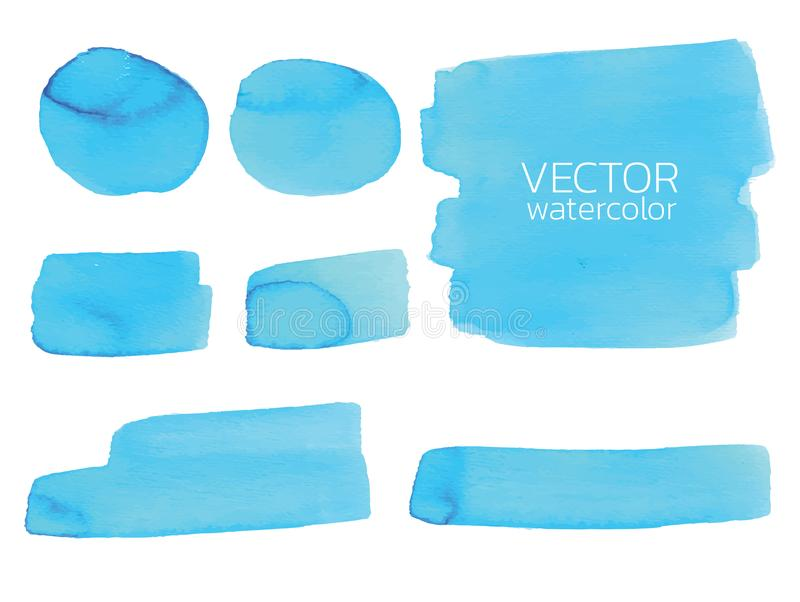 Blue watercolor brush strokes.Vector brush stroke for design. Blue watercolor brush strokes. Vector brush stroke for design. Abstract watercolor background vector illustration