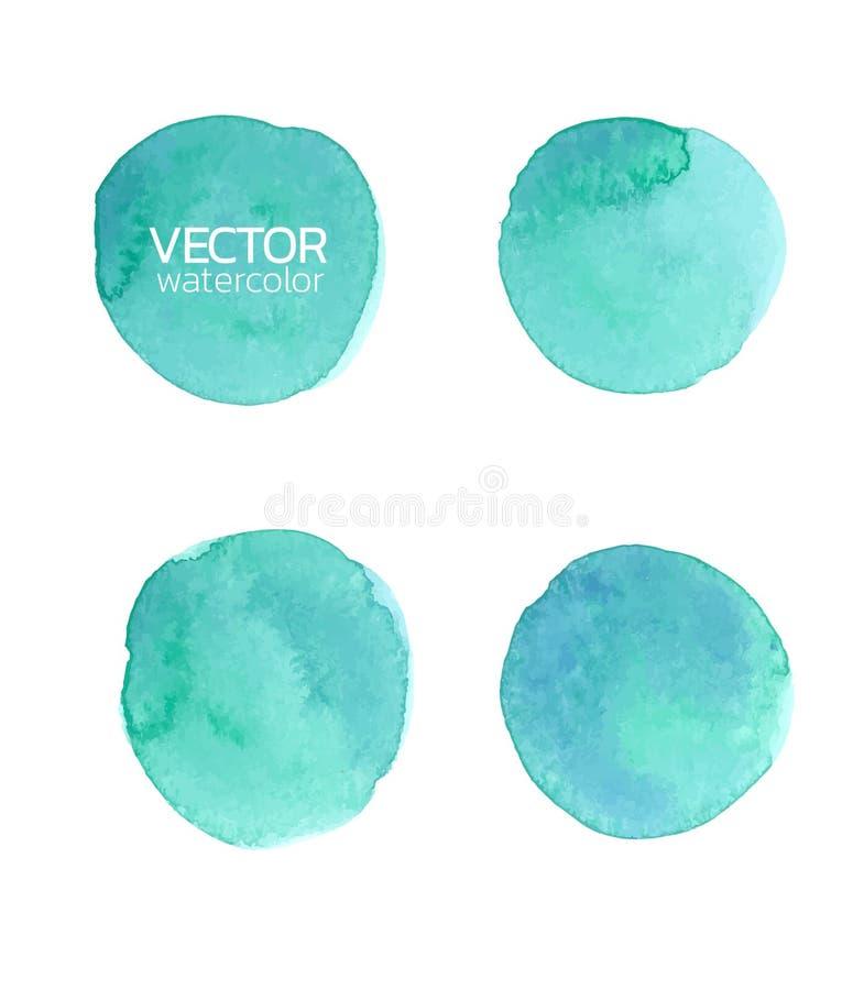 Blue watercolor brush strokes.Vector brush stroke for design. Blue watercolor brush strokes. Vector brush stroke for design. Abstract watercolor background stock illustration