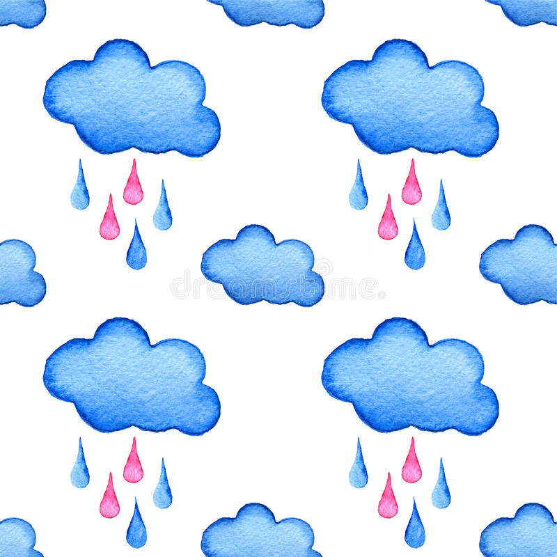 Light Blue Hand Painted Cloud Stock Illustrations – 526