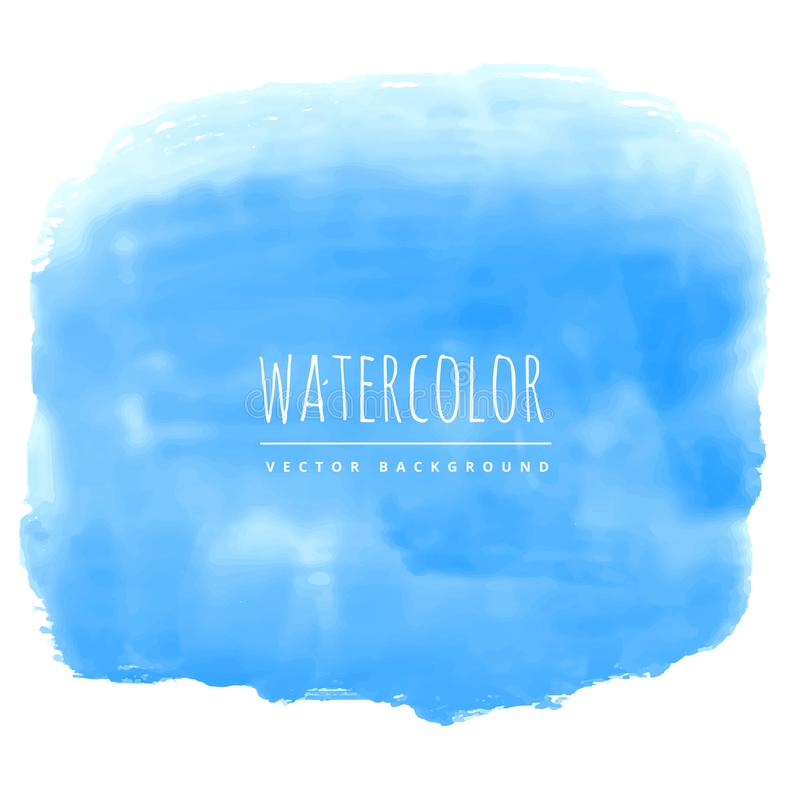 blue watercolor ink effect real stain vector background royalty free illustration