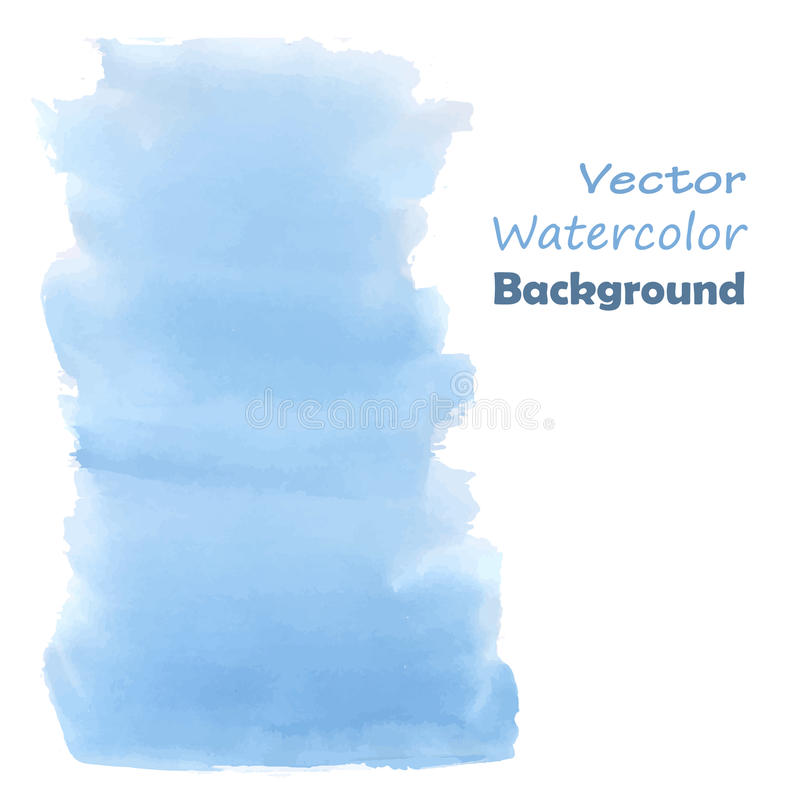 Blue watercolor paint royalty free illustration