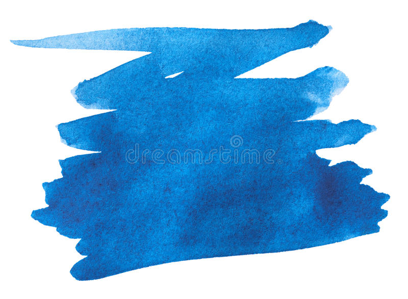 Download Blue Watercolor Paint Stroke Stock Image - Image: 23322363