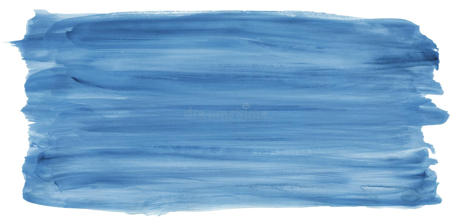 Blue watercolor strips isolated on white texture paper. illustration for design cover, label. Wedding illustration stock photo