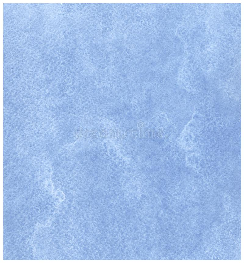 Blue watercolor background on paper texture royalty free stock image