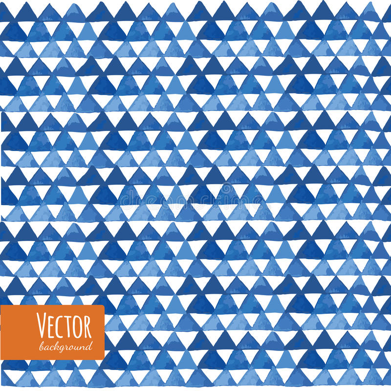 Blue watercolor triangles pattern in vector. vector illustration