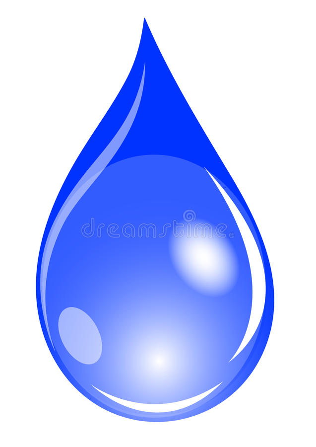 Blue waterdrop. Illustration of a blue waterdrop royalty free illustration
