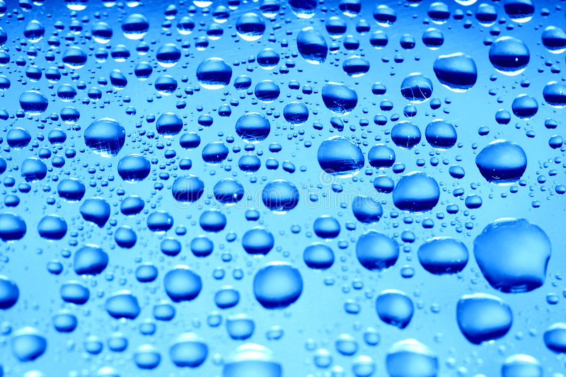 Blue waterdrops royalty free stock images