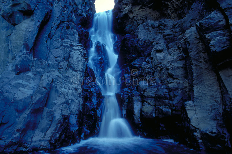 Blue Waterfall Stock Images