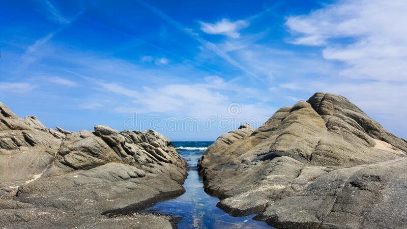 The blue waterway royalty free stock photo