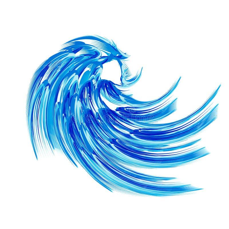 Download Blue wave stock illustration. Image of ocean, white, summer - 10409223
