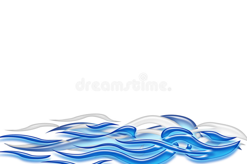 Blue wave. 3d background illustrated blue wave decoration vector illustration
