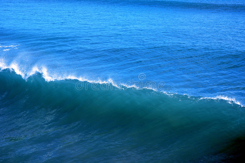 Blue wave royalty free stock photography