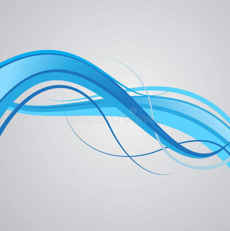 Download Blue wave stock vector. Image of modern, design, generated - 9866490
