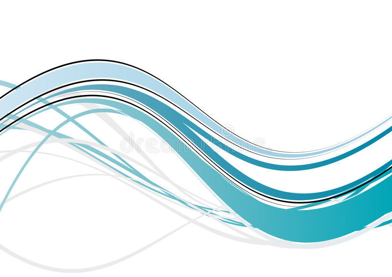 Blue wave abstract stock illustration