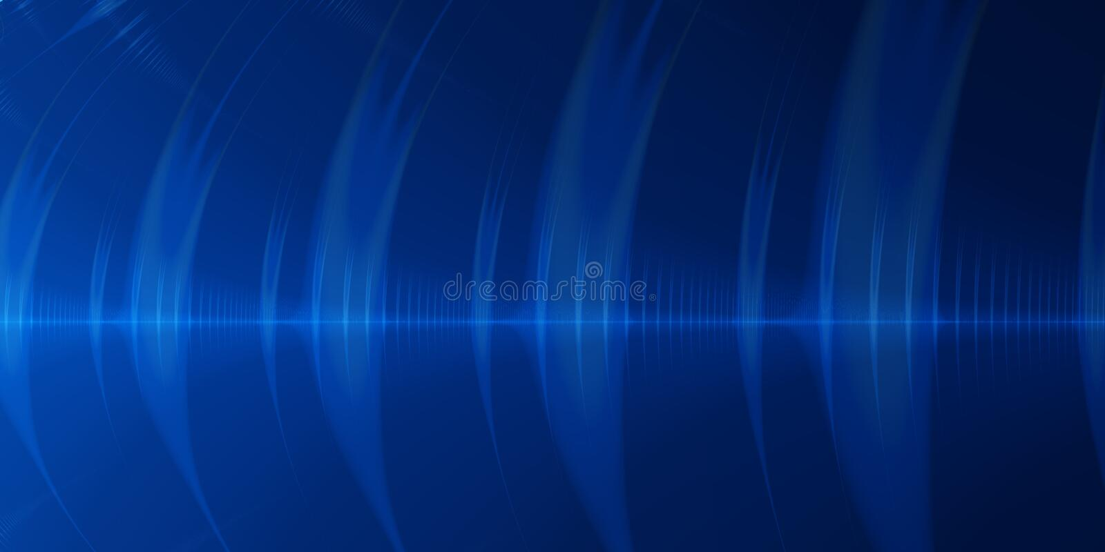 Blue wave abstract background stock illustration