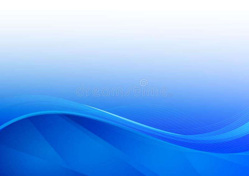 Blue wave abstract background vector illustration royalty free illustration