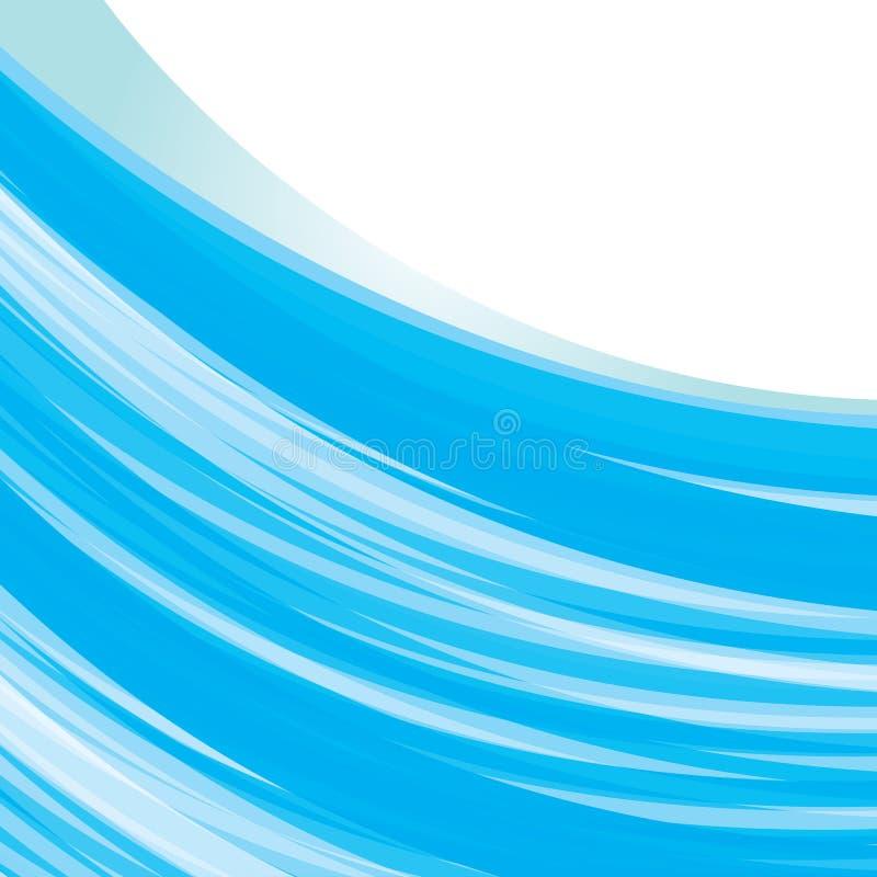 Blue wave background stock illustration