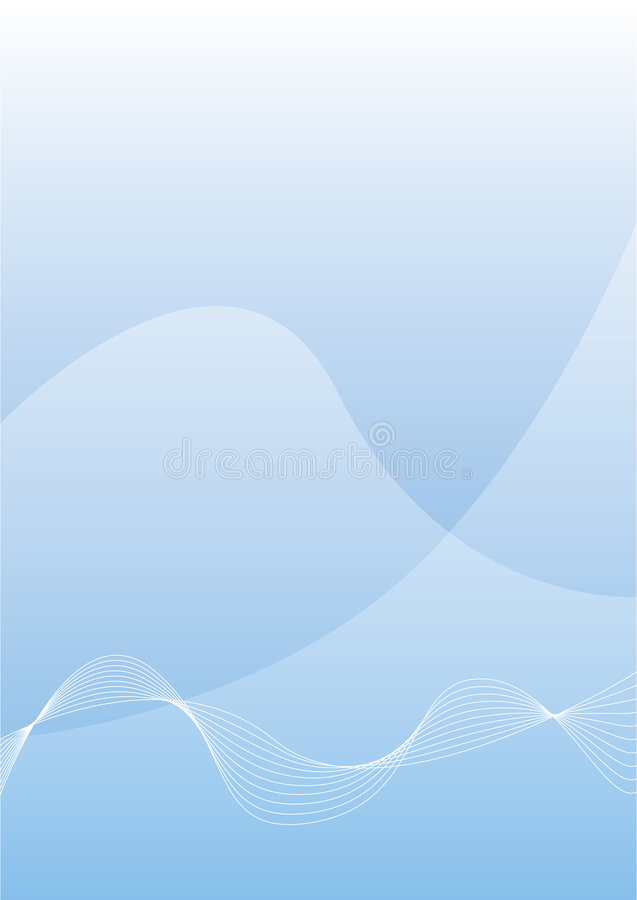 Blue wave background royalty free stock photos