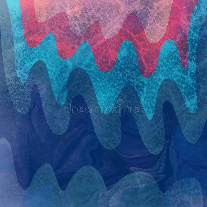 Blue wave colored pencil texture background. Abstract concept graphic element. Colorful texture. Print pattern. Abstract blue vector illustration