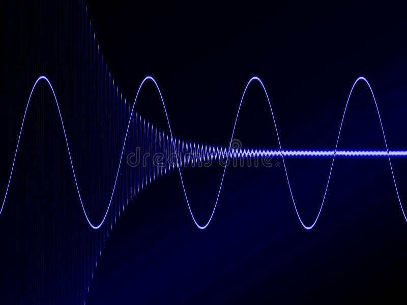 Blue Wave III. Electronic signal vector illustration