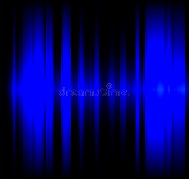 Blue wave light effect black background vector illustration