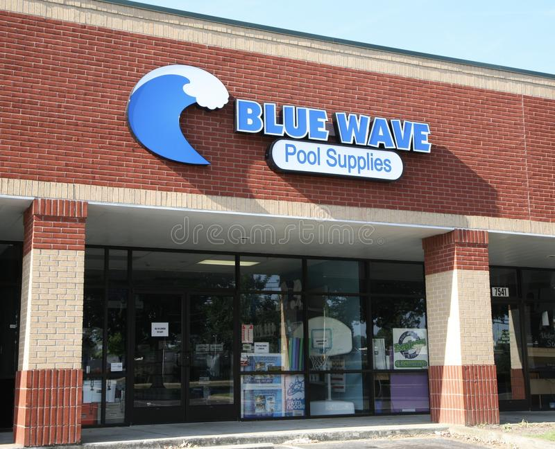 Blue Wave Pool Supplies. Sells swimming pool supplies and related products globally. Blue wave sells the full range of supplies for pool maintenance, including royalty free stock image