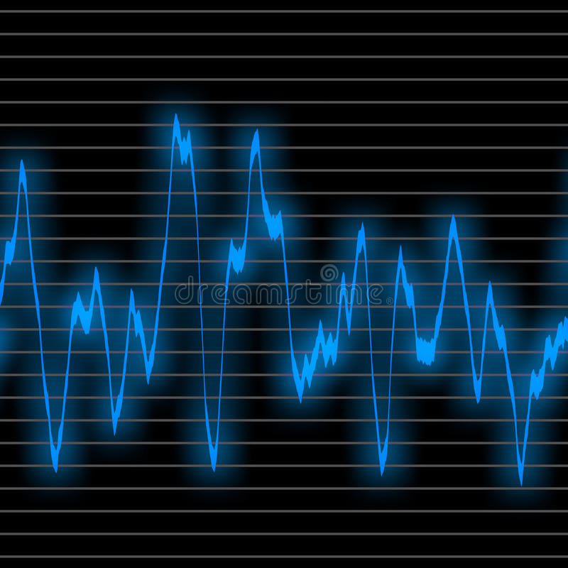 Download Blue wave sound stock illustration. Illustration of frequency - 15431614
