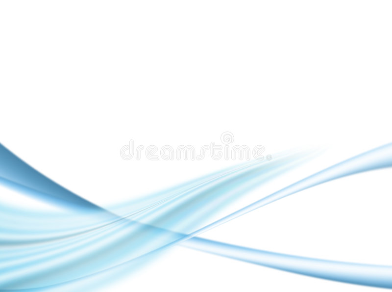 Blue waves. Blue dynamic waves on white background. illustration stock illustration