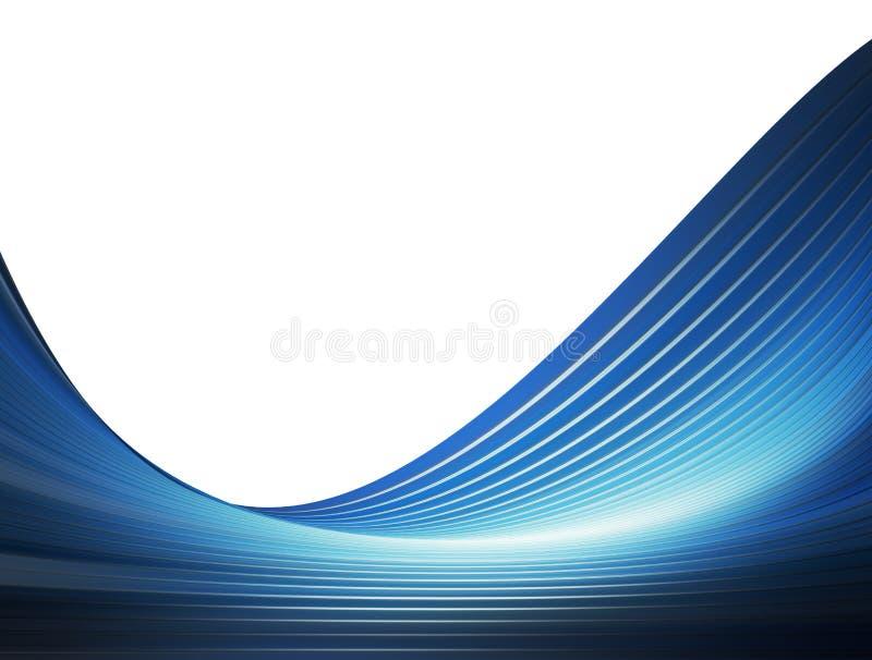 Blue waves stock illustration