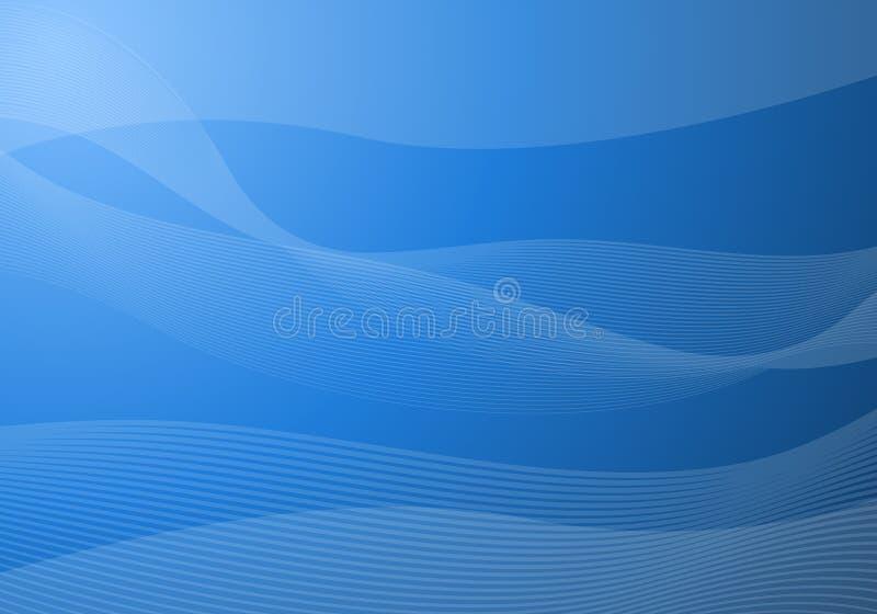 Blue waves background stock illustration