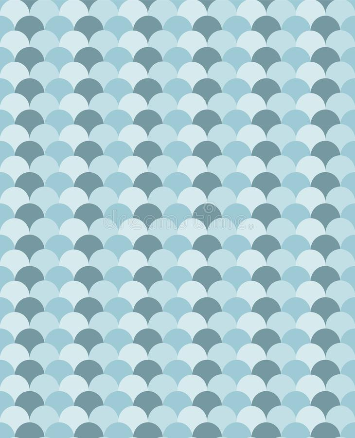 Blue waves chevron like seamless vector pattern vector illustration