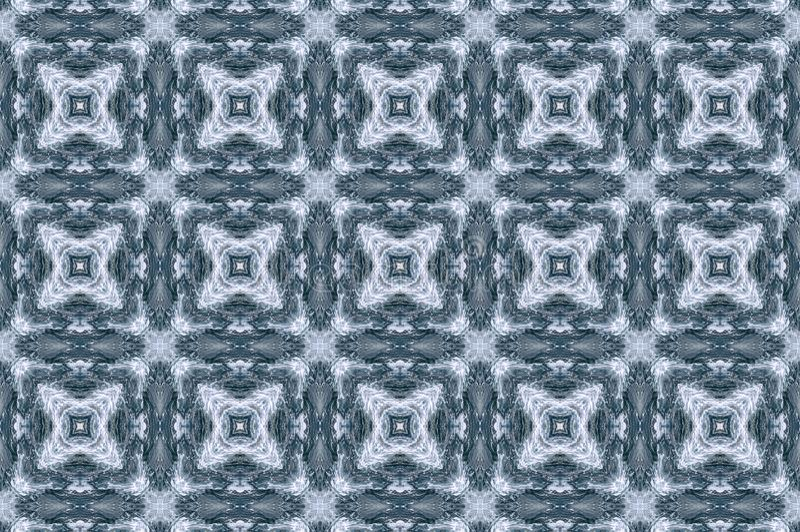 Blue waves kaleidoscope effect stock illustration