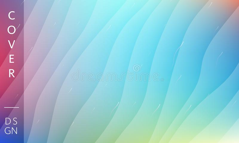 Blue waves modern background. Memphis backdrop. Vector design template for poster, banner or any cover royalty free stock photo