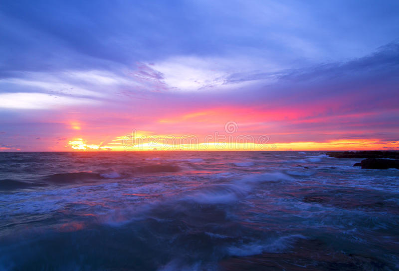 The Blue Waves Royalty Free Stock Photography