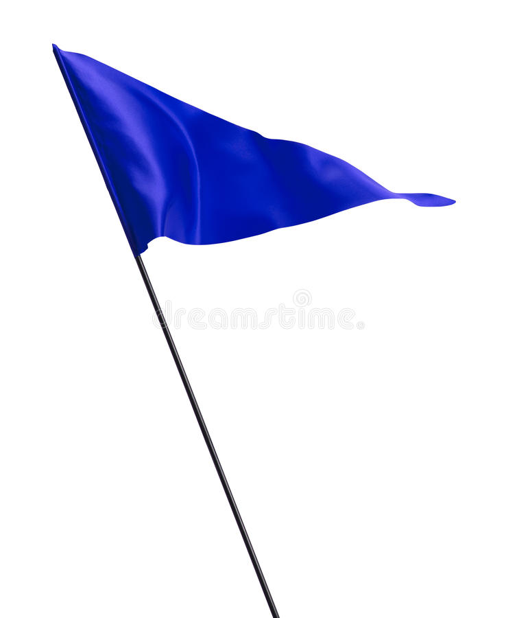 Download Blue Waving Golf Flag stock image. Image of isolated - 35658779