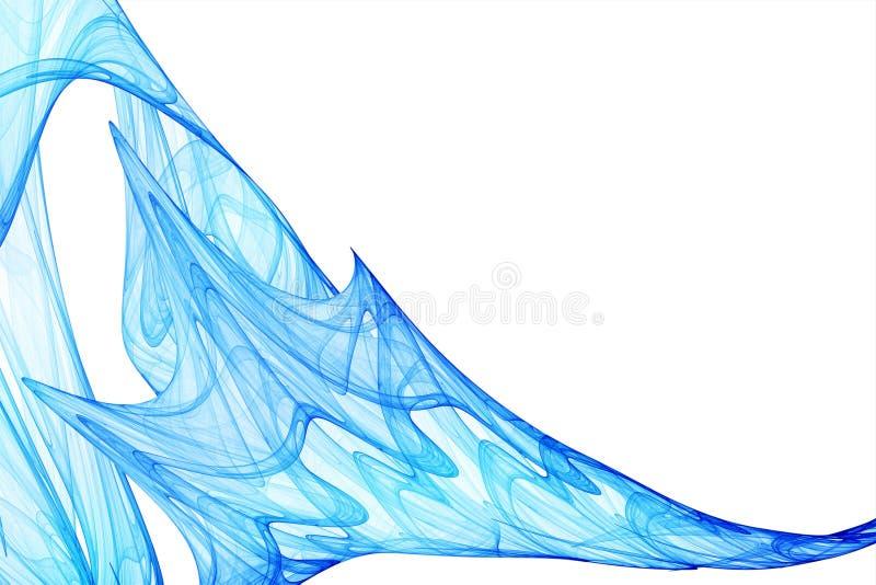 Blue wavy background. Isolated on white royalty free illustration