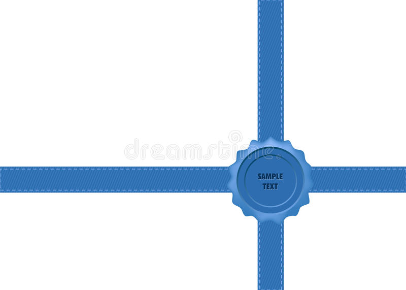 Download Blue Wax Seal with Bow stock vector. Image of decoration - 24407604