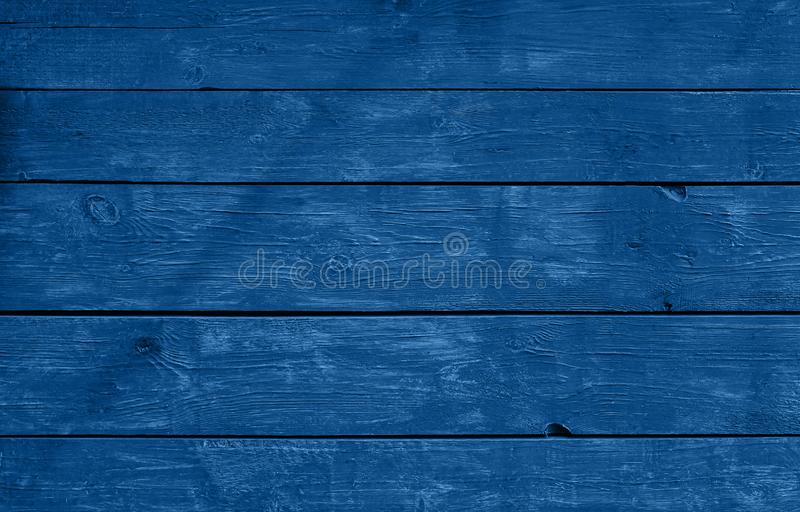 Blue weathered painted wooden planks background royalty free stock photos