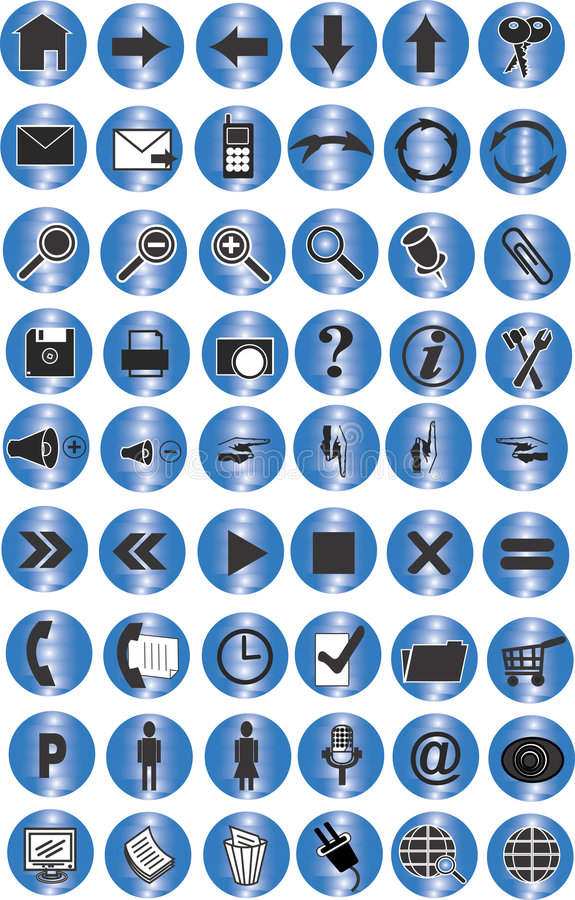 Free Blue Web Buttons Collection Royalty Free Stock Photo - 4822435
