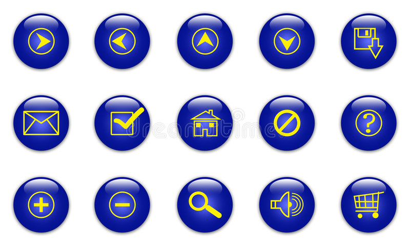 Download Blue web icons stock illustration. Illustration of decoration - 5030331