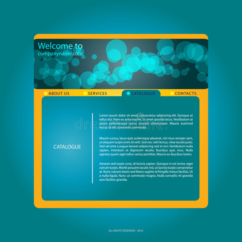 Blue webdesign. With bubbles royalty free illustration