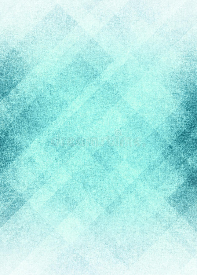 Blue white abstract background design with texture. Sky blue color background with white and blue diamond stripes and rectangle shapes in angled line geometric