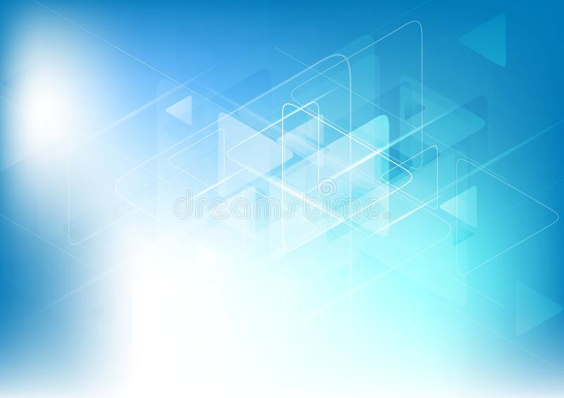 Blue white abstract technology background royalty free illustration
