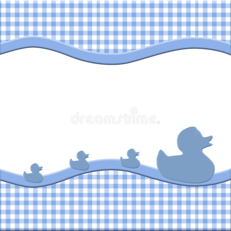 Blue and White Baby Frame royalty free illustration