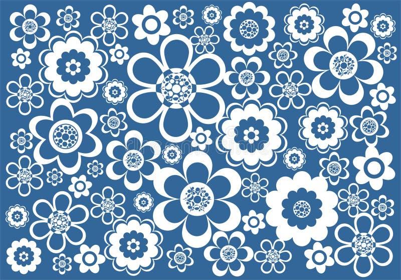 Blue-white background royalty free illustration
