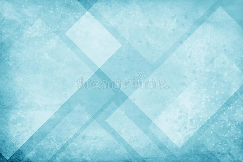 Blue and white background with textured geometric triangle and diamond pattern with faint paint splashes spatter and drips and gru vector illustration