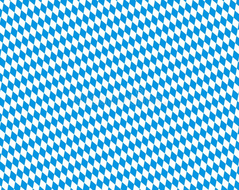Blue and white bavarian background texture. Bavarian background pattern with blue and white diamond texture vector illustration